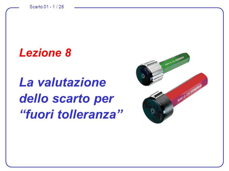 Scarto 01 - 1 / 28 Lezione 8 La valutazione dello scarto per fuori tolleranza