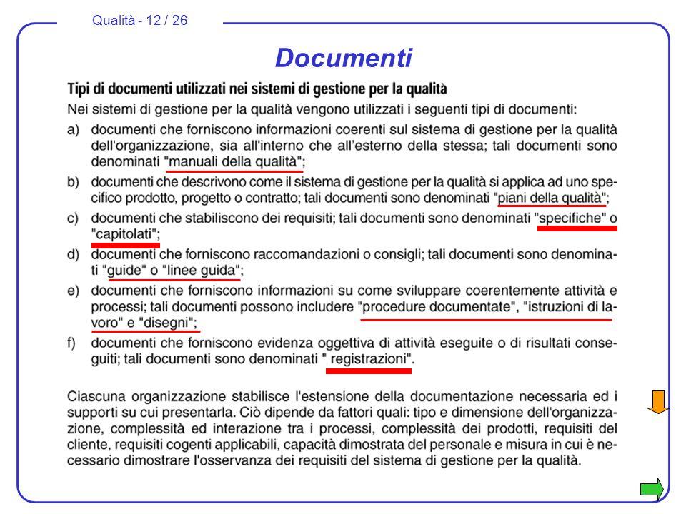 Qualità - 12 / 26 Documenti