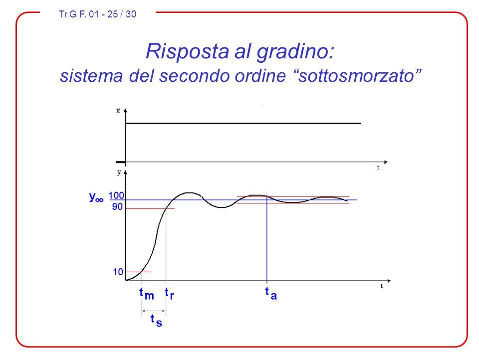 Tr.G.F. 01 - 25 / 30 Risposta al gradino: sistema del secondo ordine sottosmorzato