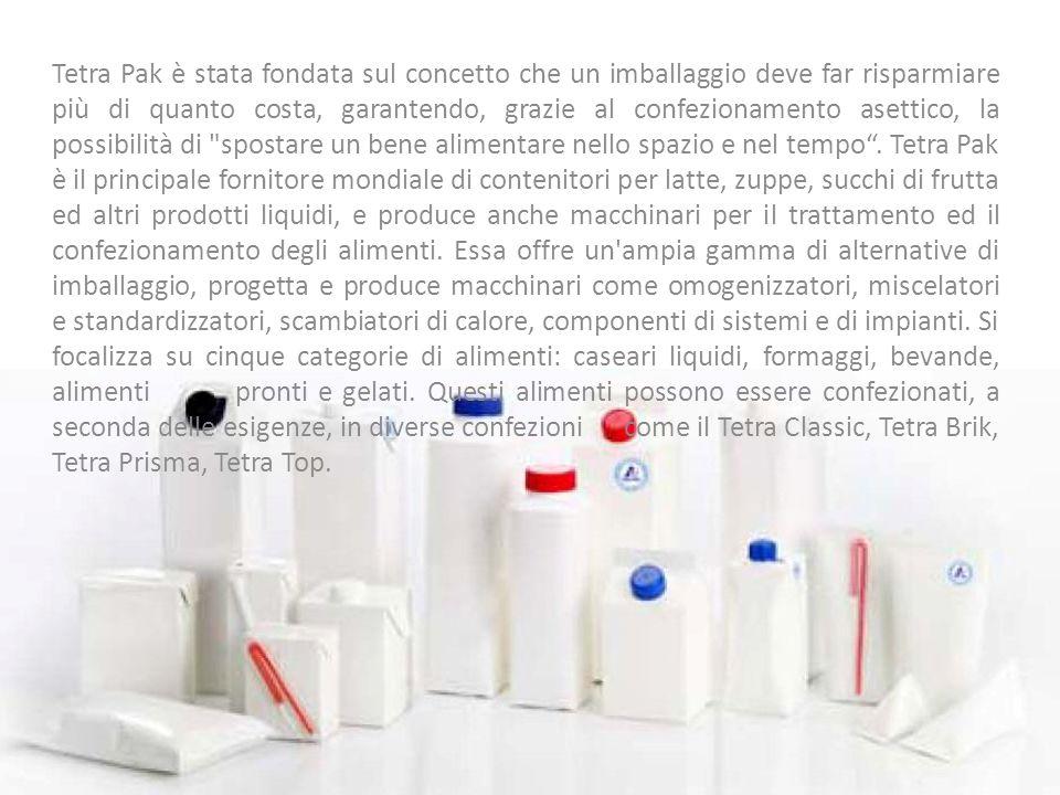 Tetra Pak è stata fondata sul concetto che un imballaggio deve far risparmiare più di quanto costa, garantendo, grazie al confezionamento asettico, la