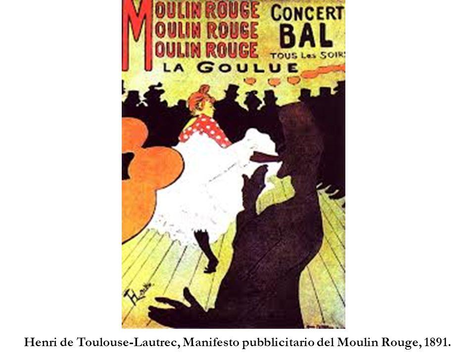 Henri de Toulouse-Lautrec, Manifesto pubblicitario del Moulin Rouge, 1891.