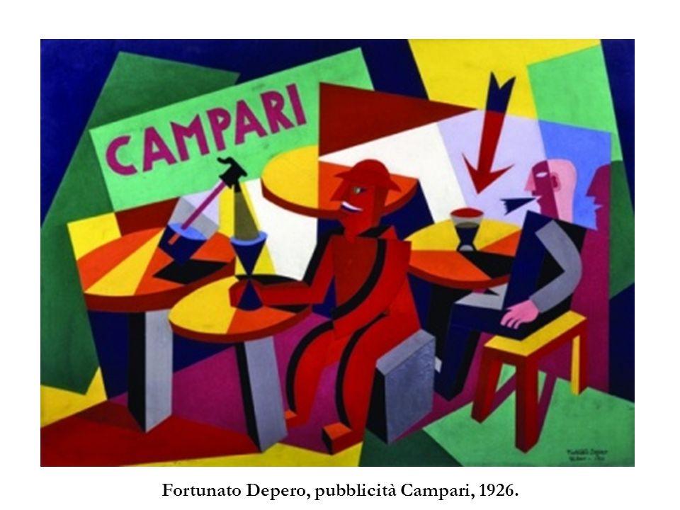 Fortunato Depero, pubblicità Campari, 1926.