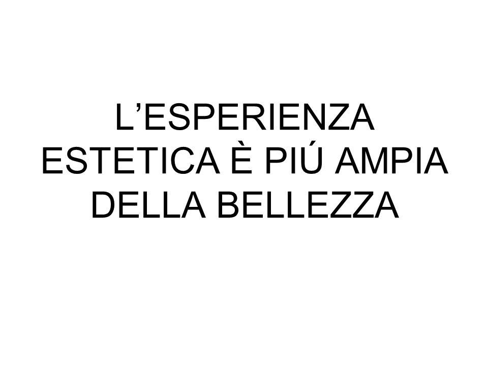 LESPERIENZA ESTETICA È PIÚ AMPIA DELLA BELLEZZA