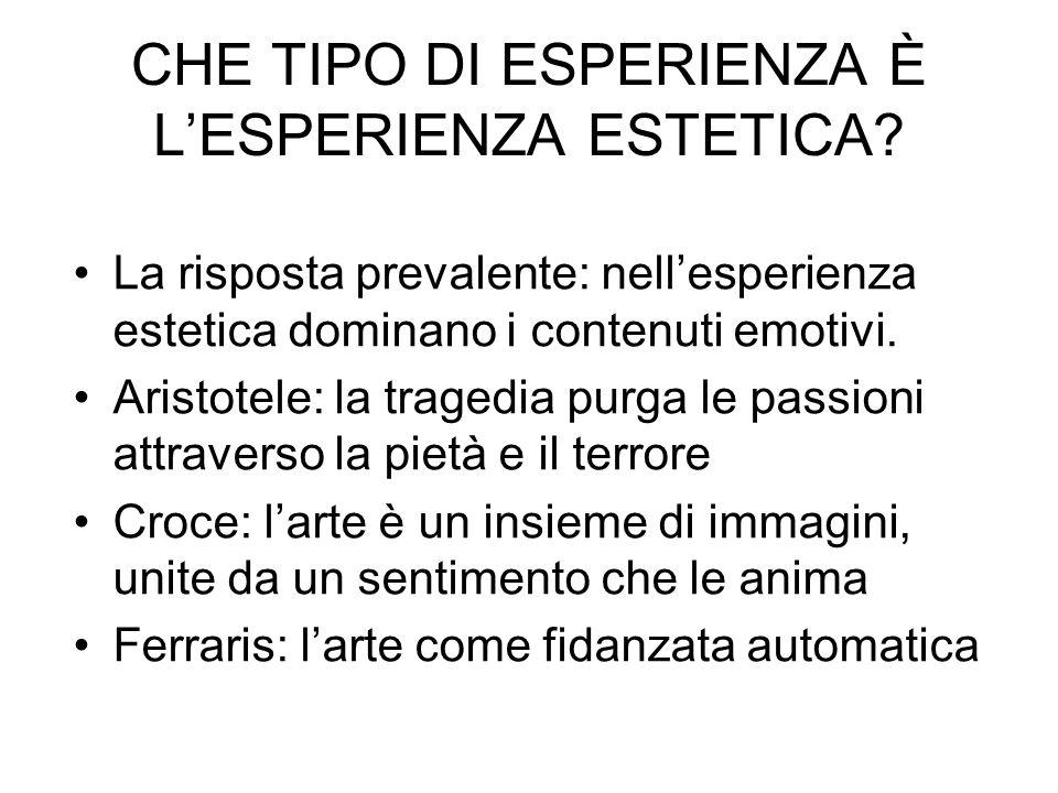 CHE TIPO DI ESPERIENZA È LESPERIENZA ESTETICA.
