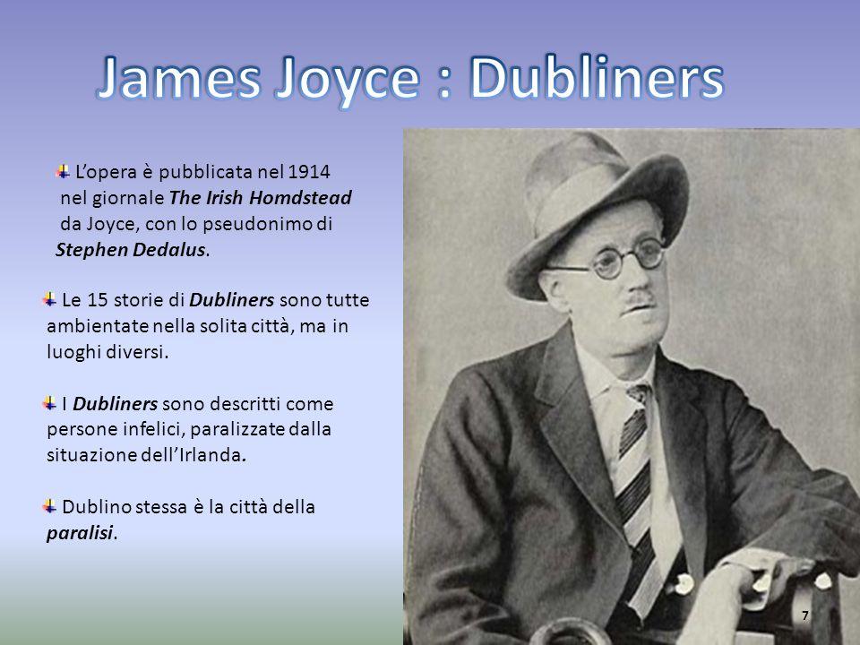 Le 15 storie di Dubliners sono tutte ambientate nella solita città, ma in luoghi diversi. I Dubliners sono descritti come persone infelici, paralizzat