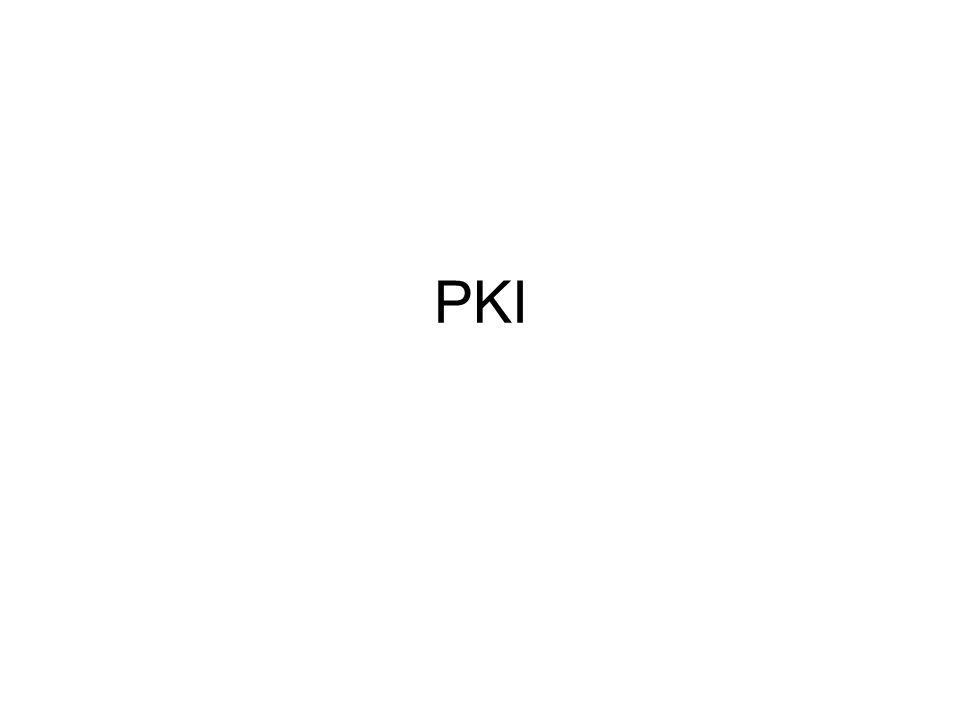 La PKI stabilisce anche molti altri aspetti, tra i quali è fondamentale la revoca dei certificati (quando un certificato viene invalidato prima della sua data di scadenza, bisogna stabilire dei meccanismi con cui avvertire tutti quelli che potrebbero riceverlo ed erroneamente assumerlo come valido).
