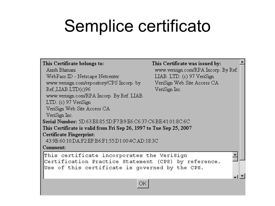 Semplice certificato
