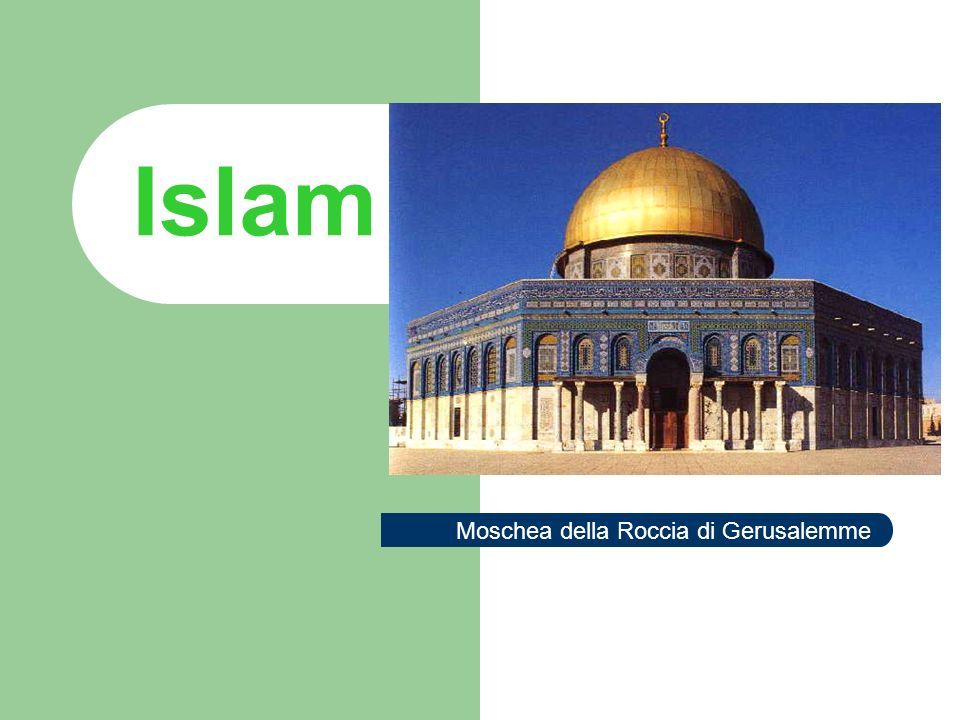 Islam La fede islamica è basata su cinque principi (arkan)