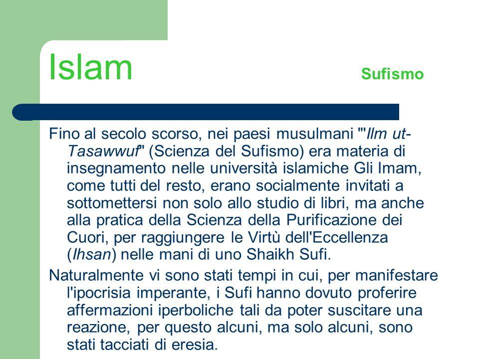 Islam Sufismo Fino al secolo scorso, nei paesi musulmani