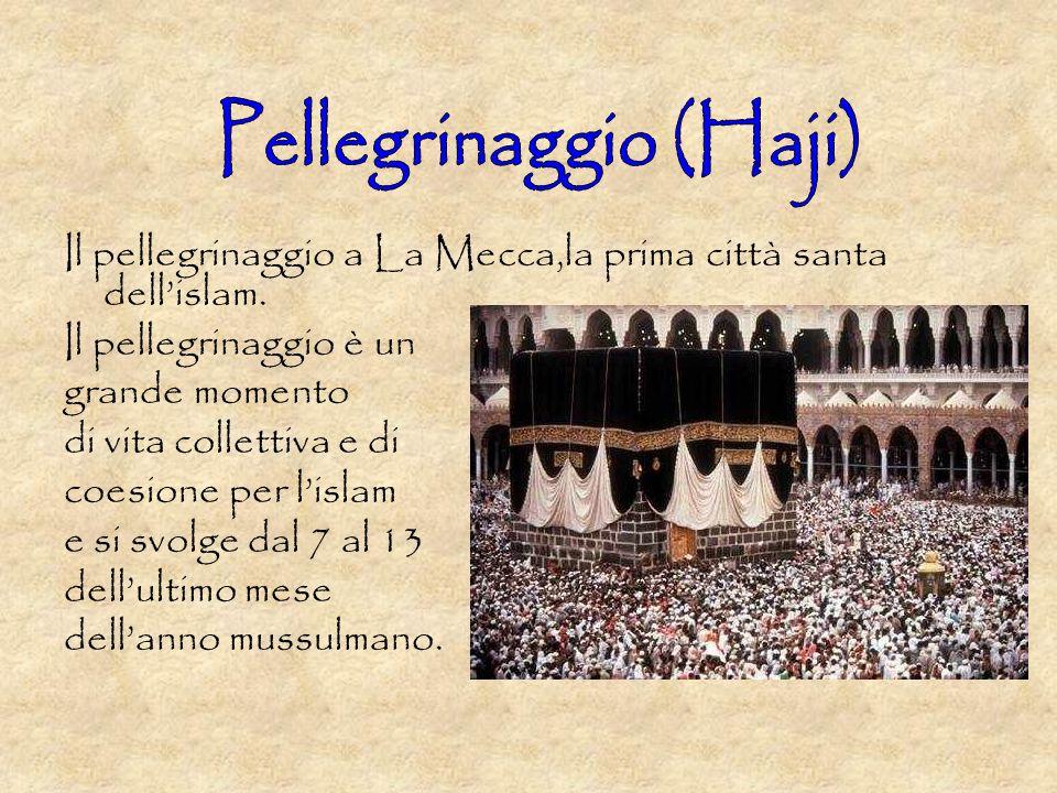 Il pellegrinaggio a La Mecca,la prima città santa dellislam.