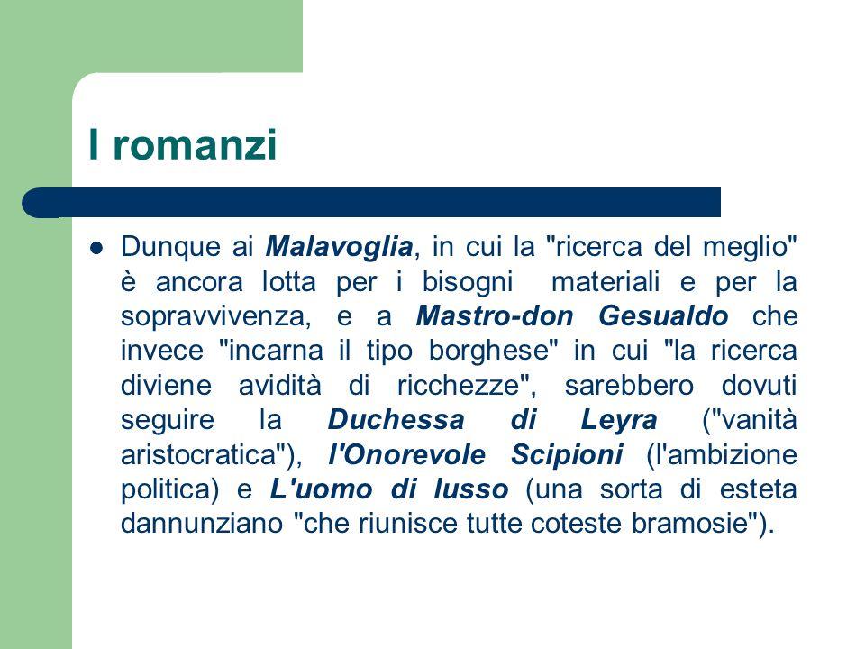 Dalle Novelle rusticane alla morte Tra i Malavoglia e Mastro-don Gesualdo, il Verga scrisse una seconda raccolta di racconti di ambiente siciliano, Novelle rusticane (tra cui si ricordano La roba, Malaria, Libertà).