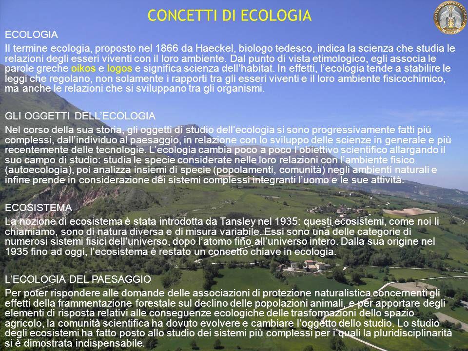 CONCETTI DI ECOLOGIA ECOLOGIA Il termine ecologia, proposto nel 1866 da Haeckel, biologo tedesco, indica la scienza che studia le relazioni degli esseri viventi con il loro ambiente.