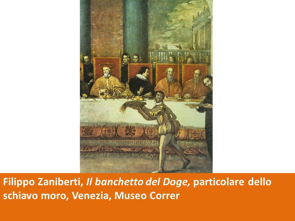 Filippo Zaniberti, Il banchetto del Doge, particolare dello schiavo moro, Venezia, Museo Correr