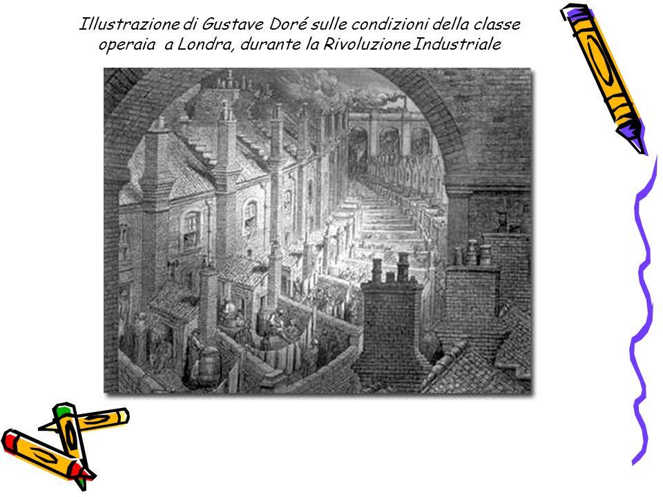 Illustrazione di Gustave Doré sulle condizioni della classe operaia a Londra, durante la Rivoluzione Industriale