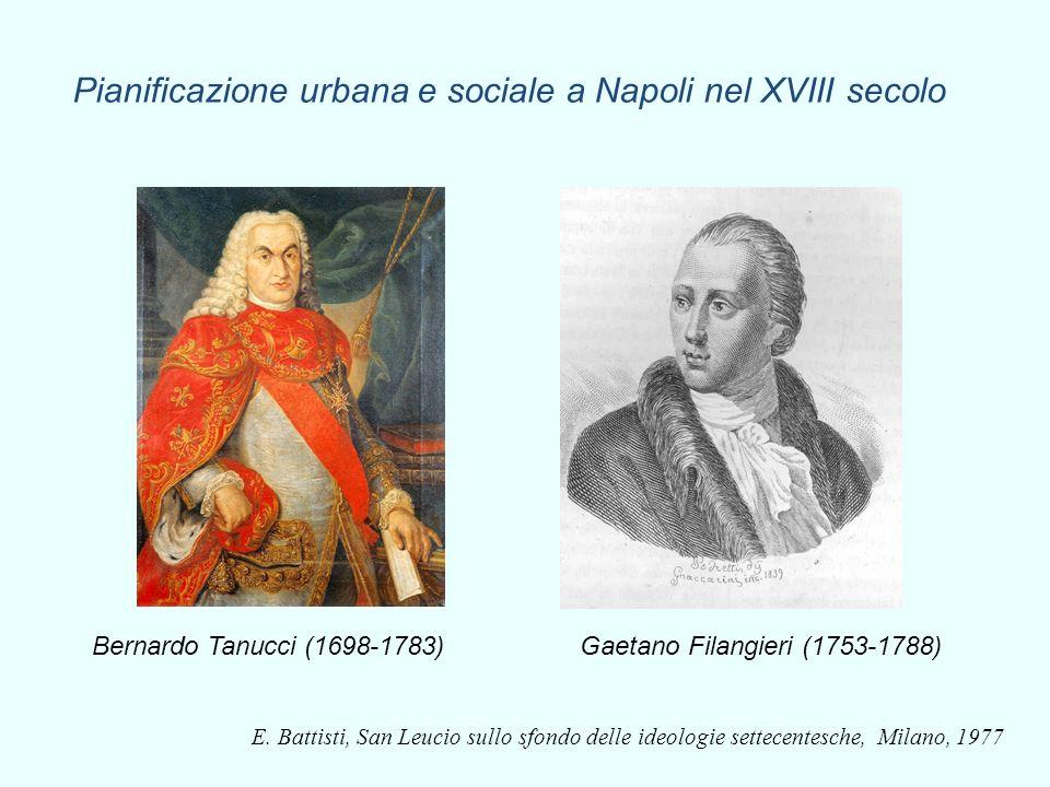 E. Battisti, San Leucio sullo sfondo delle ideologie settecentesche, Milano, 1977 Pianificazione urbana e sociale a Napoli nel XVIII secolo Bernardo T