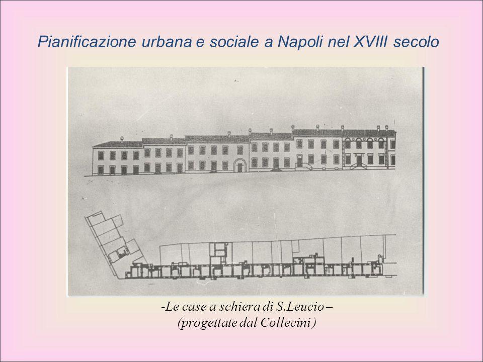 -Le case a schiera di S.Leucio – (progettate dal Collecini ) Pianificazione urbana e sociale a Napoli nel XVIII secolo