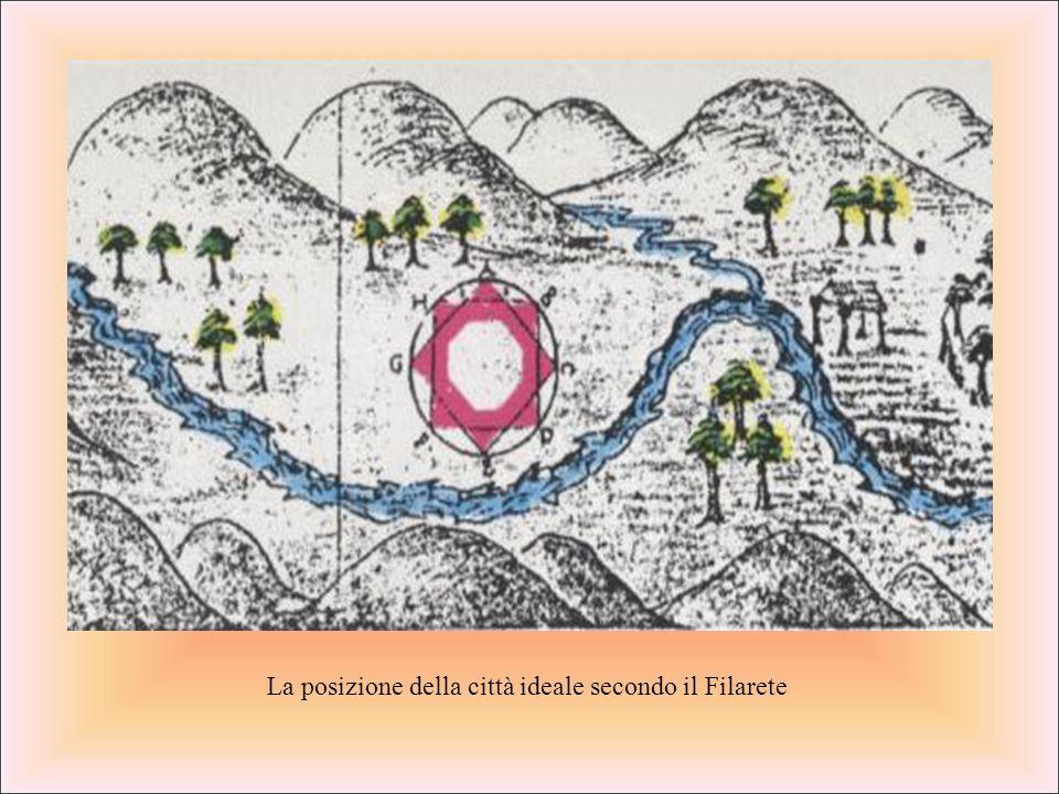 La posizione della città ideale secondo il Filarete