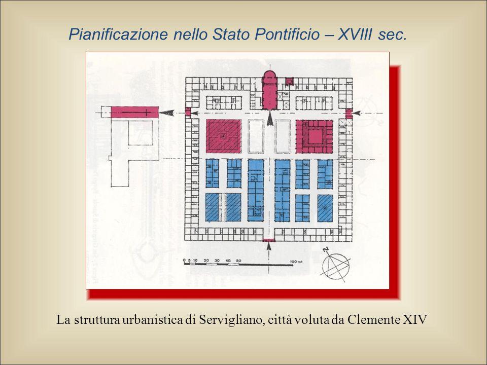 La struttura urbanistica di Servigliano, città voluta da Clemente XIV Pianificazione nello Stato Pontificio – XVIII sec.