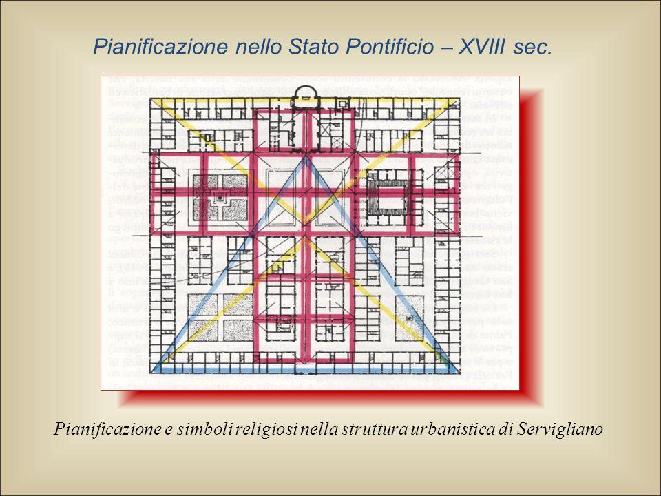 Pianificazione e simboli religiosi nella struttura urbanistica di Servigliano Pianificazione nello Stato Pontificio – XVIII sec.