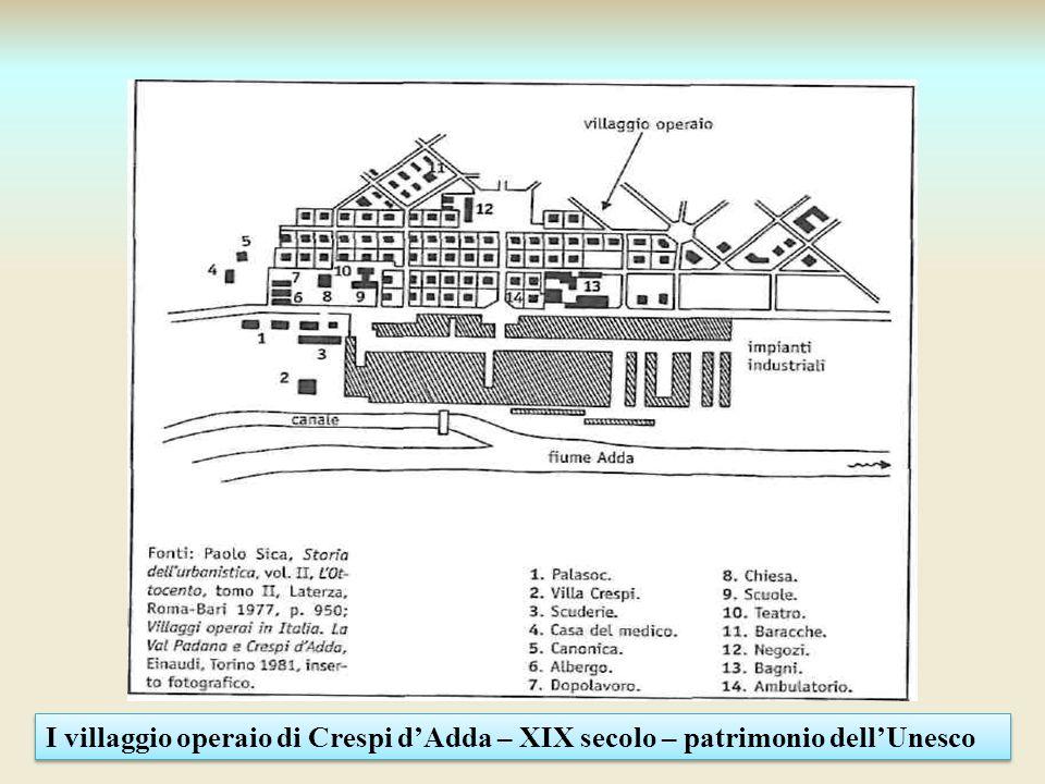 I villaggio operaio di Crespi dAdda – XIX secolo – patrimonio dellUnesco