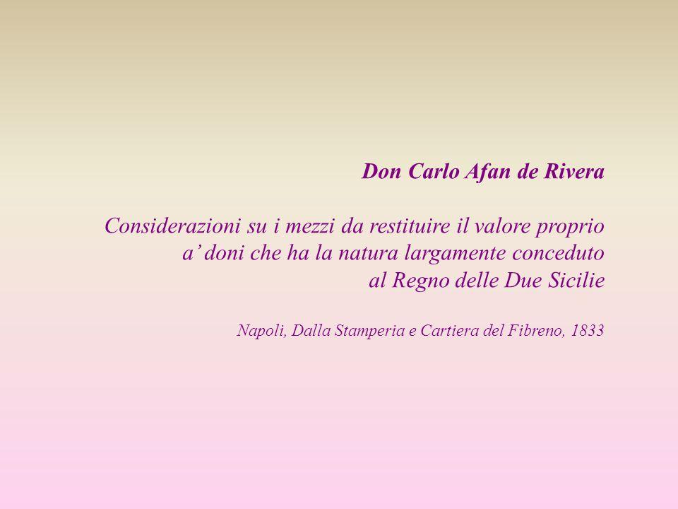 Don Carlo Afan de Rivera Considerazioni su i mezzi da restituire il valore proprio a doni che ha la natura largamente conceduto al Regno delle Due Sic