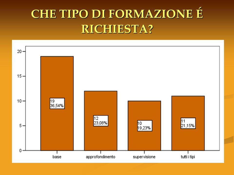 CHE TIPO DI FORMAZIONE É RICHIESTA?