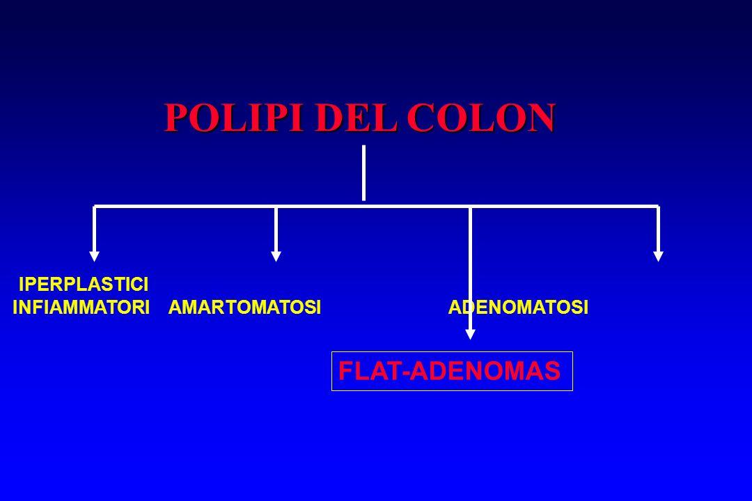 POLIPI DEL COLON IPERPLASTICI INFIAMMATORI AMARTOMATOSI ADENOMATOSI FLAT-ADENOMAS
