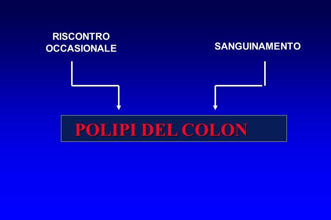 POLIPI DEL COLON RISCONTRO OCCASIONALE SANGUINAMENTO