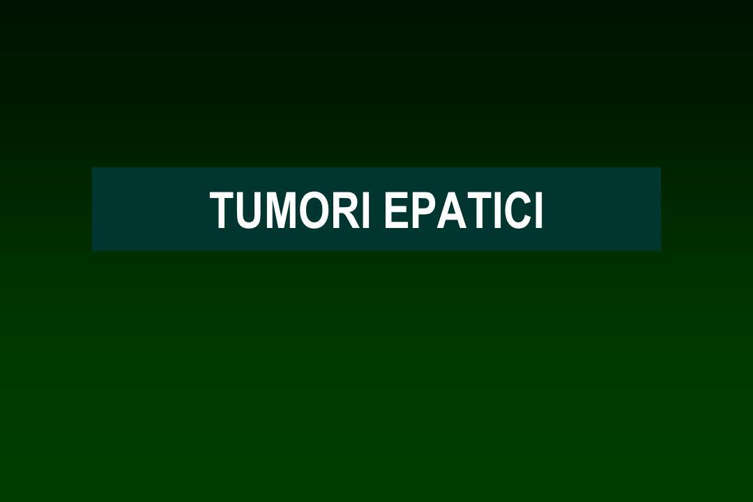 TUMORE MALIGNO PRIMITIVO EPATOCARCINOMA COLANGIOCARCINOMA ALTRI Lepatocarcinoma insorge nell80% dei casi in pazienti affetti da cirrosi.