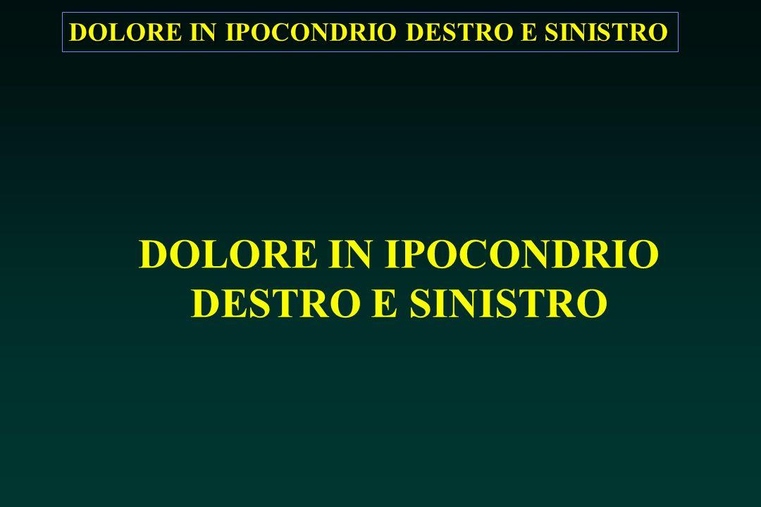 DOLORE IN IPOCONDRIO DESTRO E SINISTRO