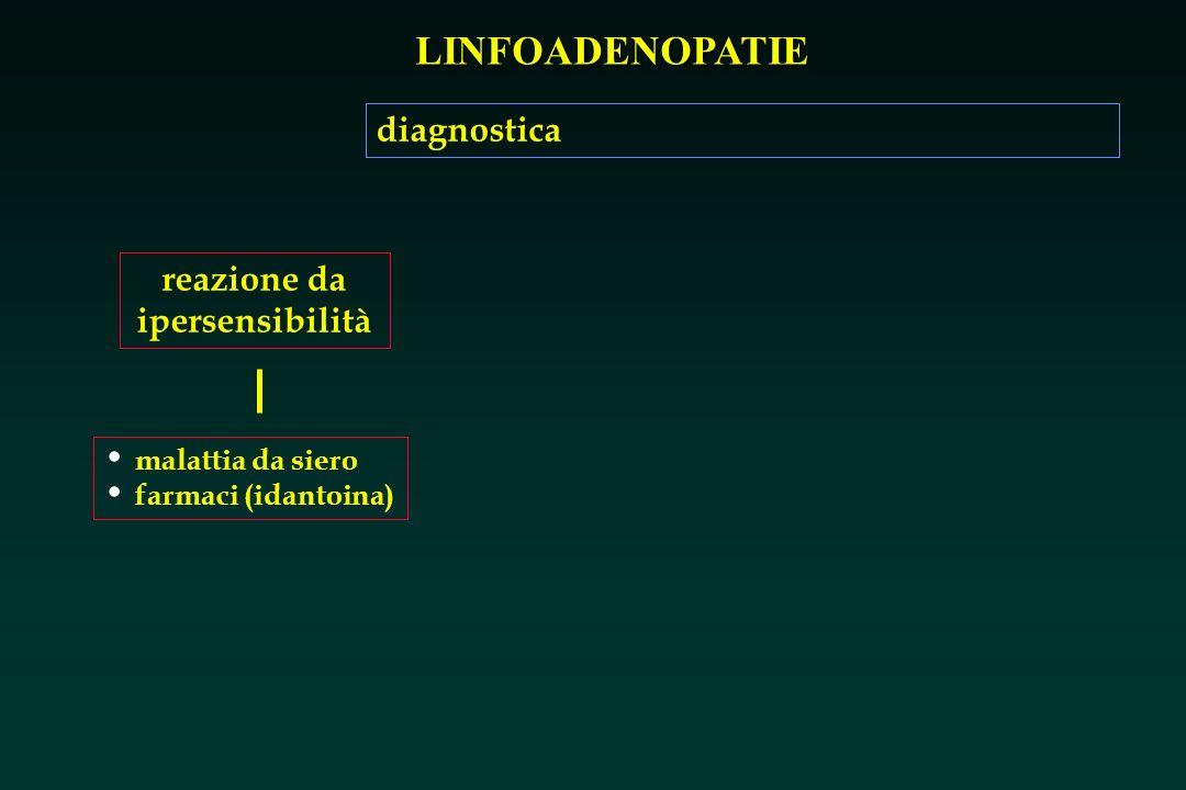 LINFOADENOPATIE reazione da ipersensibilità malattia da siero farmaci (idantoina) diagnostica