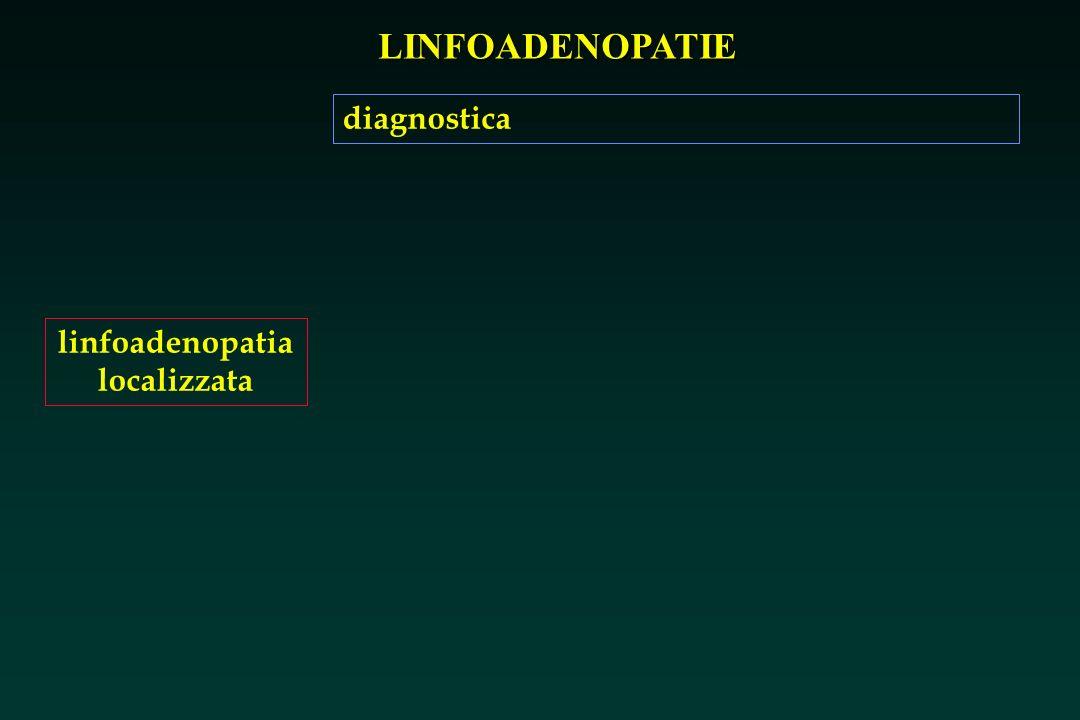 LINFOADENOPATIE linfoadenopatia localizzata diagnostica