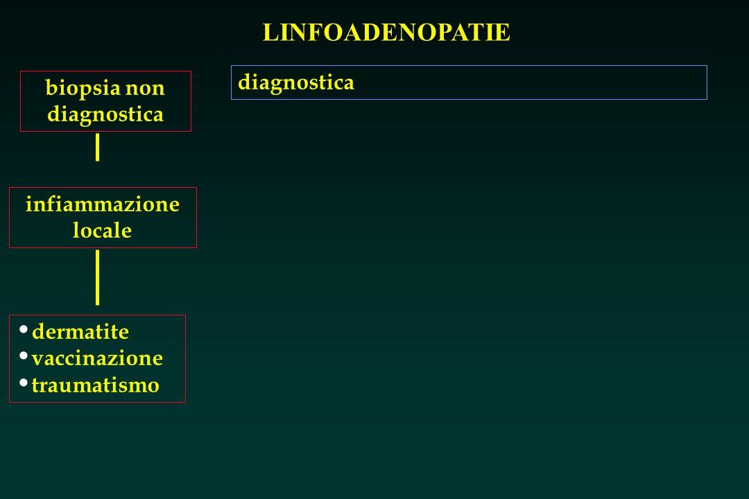 LINFOADENOPATIE biopsia non diagnostica infiammazione locale dermatite vaccinazione traumatismo diagnostica