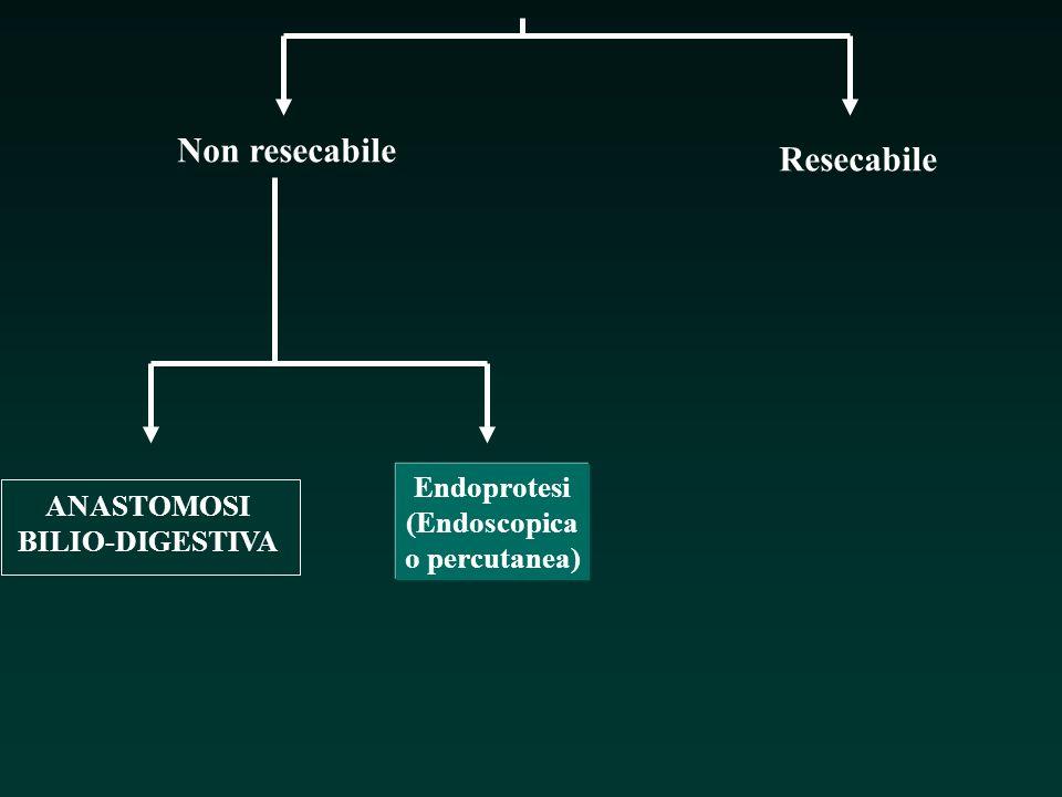 Non resecabile Resecabile ANASTOMOSI BILIO-DIGESTIVA Endoprotesi (Endoscopica o percutanea)