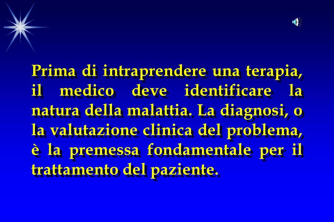 Prima di intraprendere una terapia, il medico deve identificare la natura della malattia.