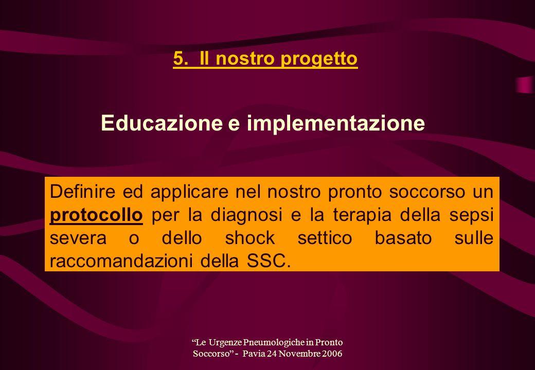 Le Urgenze Pneumologiche in Pronto Soccorso - Pavia 24 Novembre 2006 Definire ed applicare nel nostro pronto soccorso un protocollo per la diagnosi e