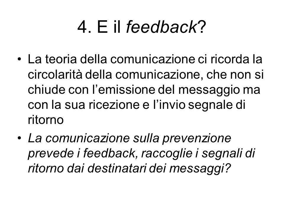 4. E il feedback.
