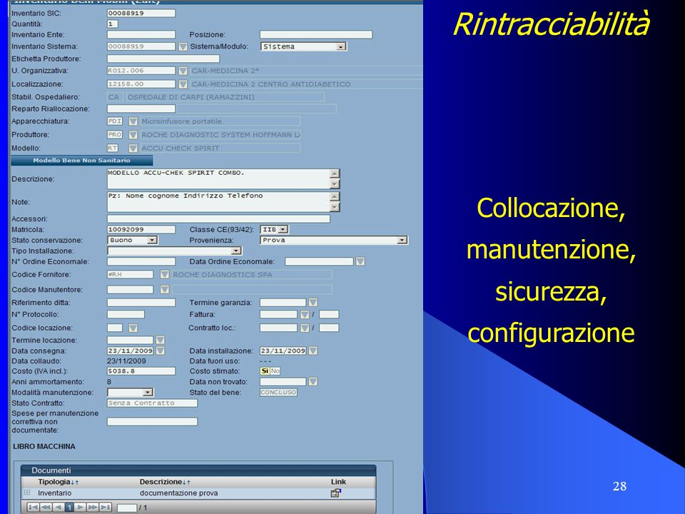28 CLINGO Rintracciabilità Collocazione, manutenzione, sicurezza, configurazione