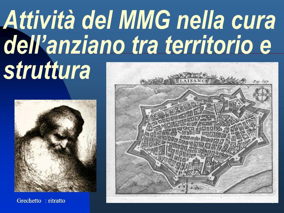 1 Attività del MMG nella cura dellanziano tra territorio e struttura Grechetto : ritratto