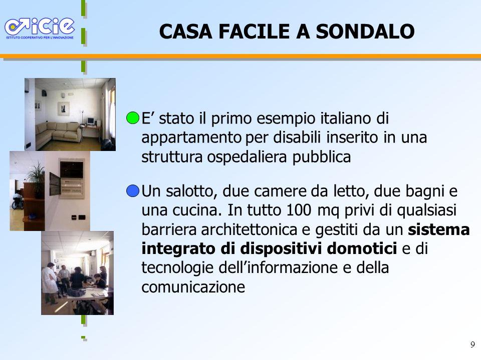 9 CASA FACILE A SONDALO Un salotto, due camere da letto, due bagni e una cucina.