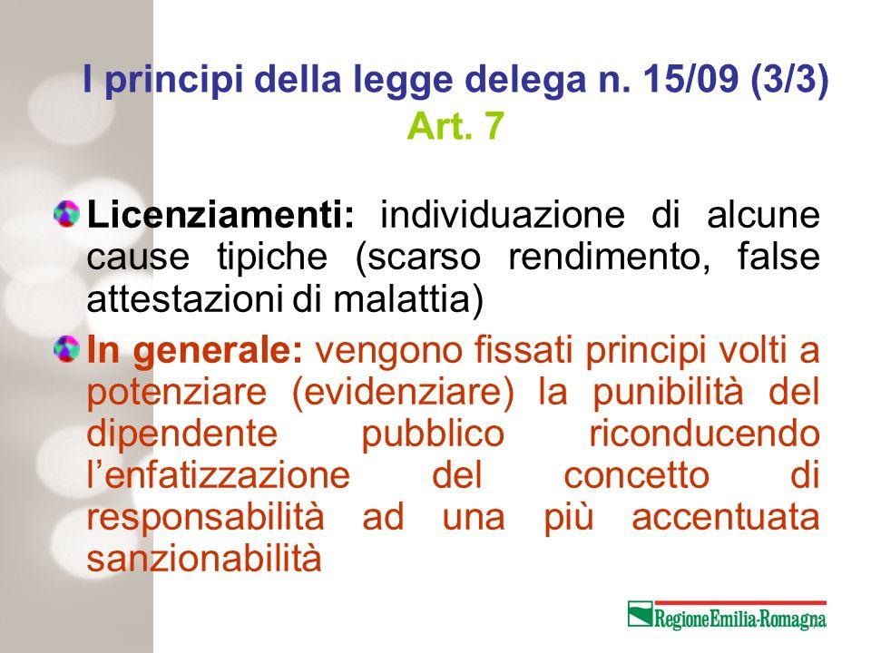 Tempi di applicazione Nuovi procedimenti: dallentrata in vigore del D.lgs.