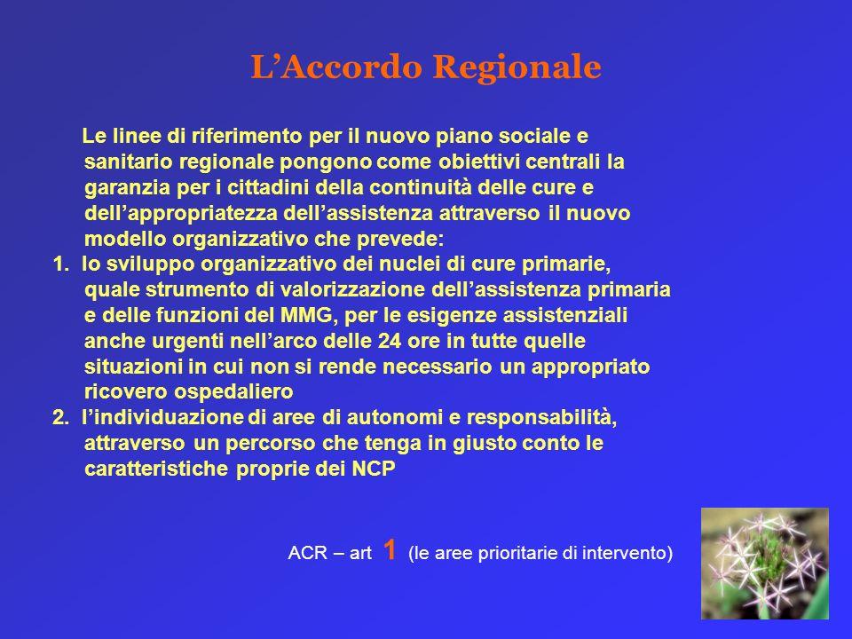 Le linee di riferimento per il nuovo piano sociale e sanitario regionale pongono come obiettivi centrali la garanzia per i cittadini della continuità
