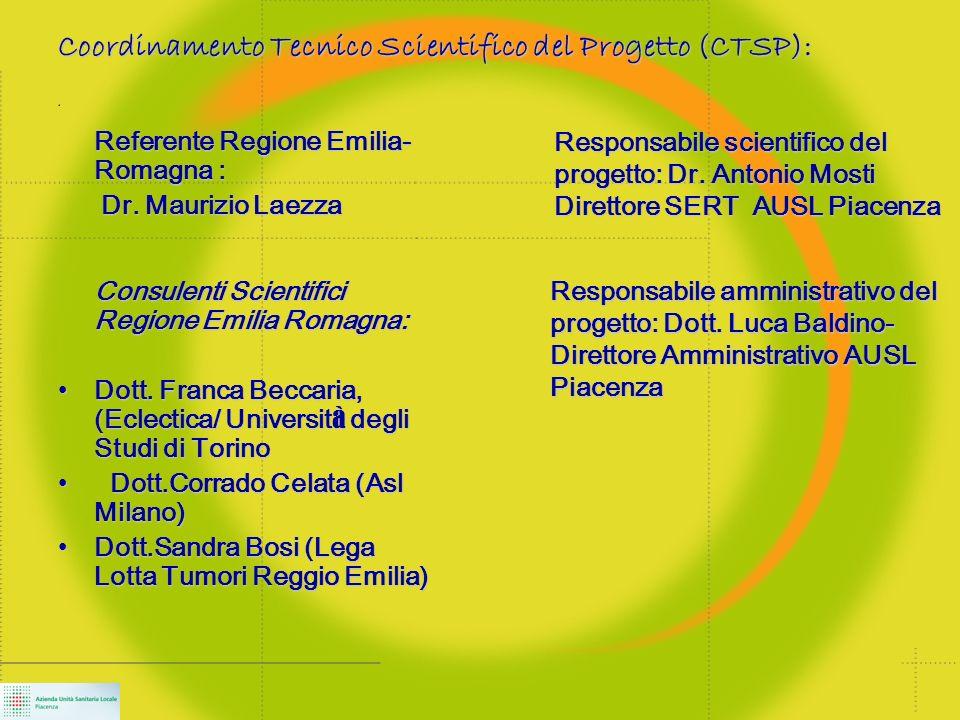 Referente Regione Emilia- Romagna : Dr.
