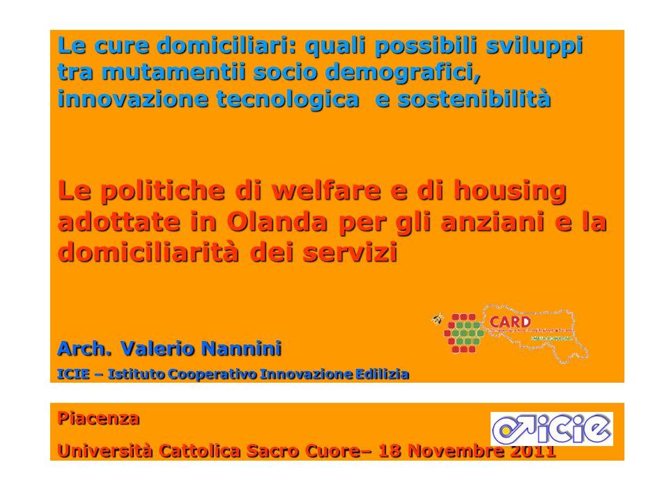 Le cure domiciliari: quali possibili sviluppi tra mutamentii socio demografici, innovazione tecnologica e sostenibilità Le politiche di welfare e di h