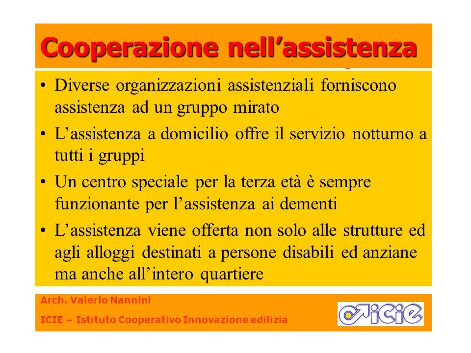 Diverse organizzazioni assistenziali forniscono assistenza ad un gruppo mirato Lassistenza a domicilio offre il servizio notturno a tutti i gruppi Un