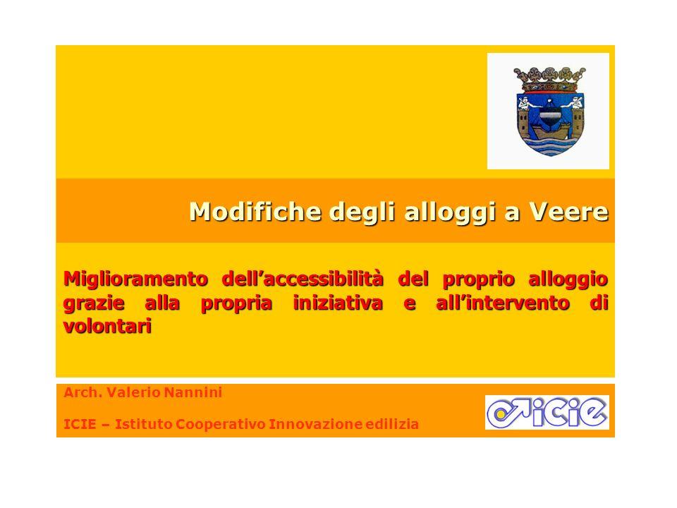 Arch. Valerio Nannini ICIE – Istituto Cooperativo Innovazione edilizia Miglioramento dellaccessibilità del proprio alloggio grazie alla propria inizia