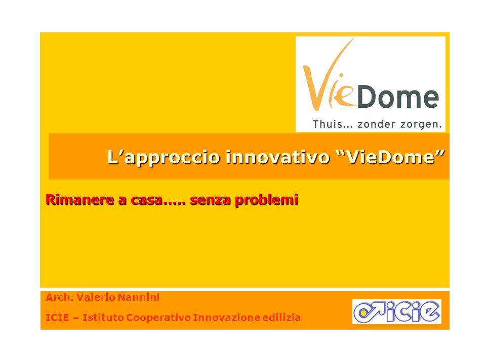 Arch. Valerio Nannini ICIE – Istituto Cooperativo Innovazione edilizia Rimanere a casa….. senza problemi Lapproccio innovativo VieDome