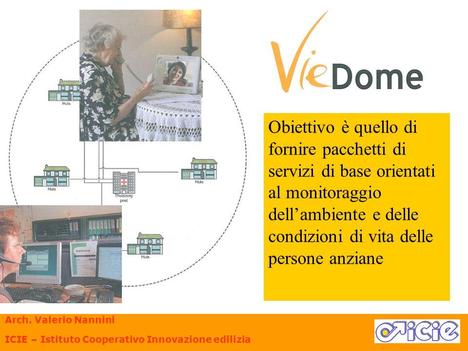 Obiettivo è quello di fornire pacchetti di servizi di base orientati al monitoraggio dellambiente e delle condizioni di vita delle persone anziane Arc