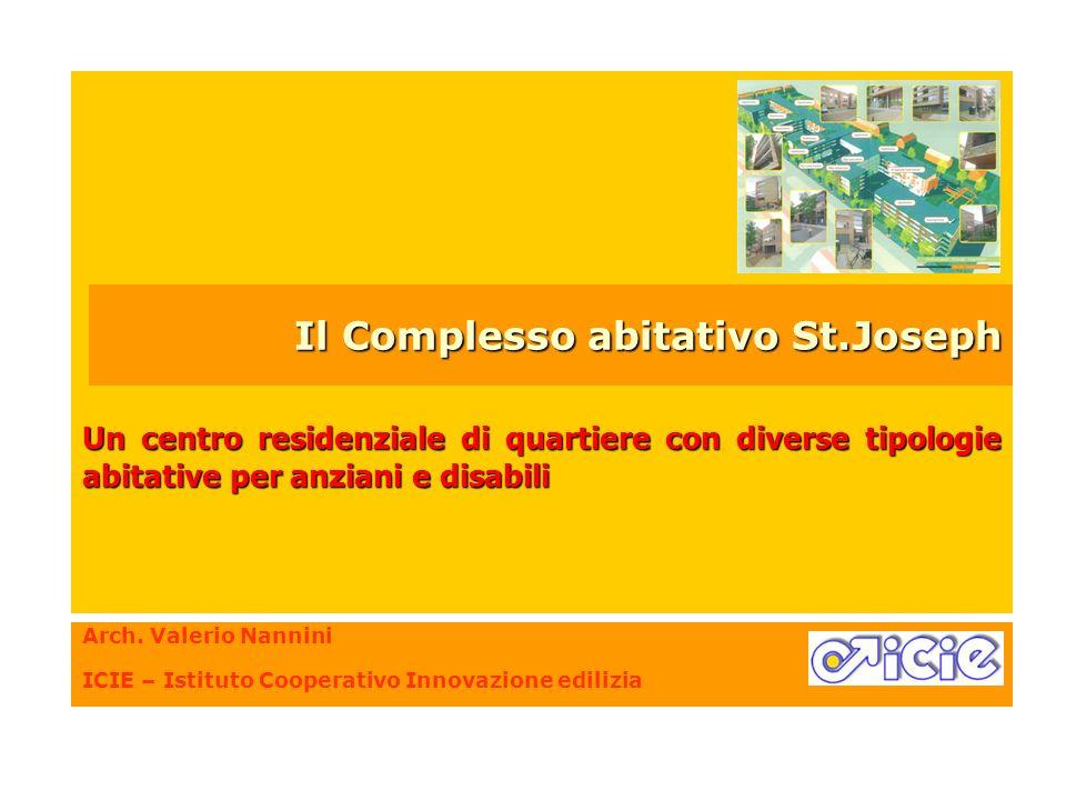 Arch. Valerio Nannini ICIE – Istituto Cooperativo Innovazione edilizia Un centro residenziale di quartiere con diverse tipologie abitative per anziani