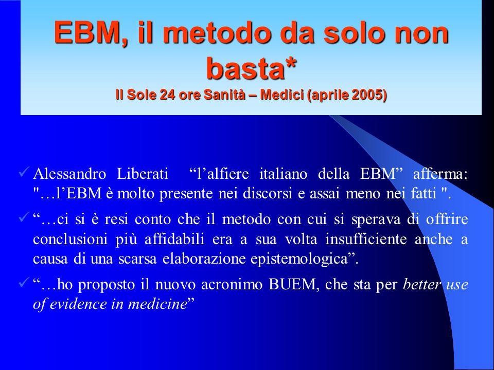 Alessandro Liberati lalfiere italiano della EBM afferma: